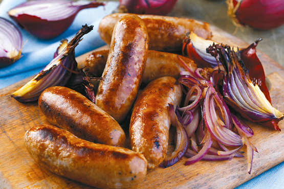 Caramalised Red Onion Sausages