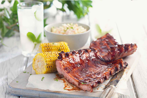 BBQ Pork Rib Racks - 2 packs