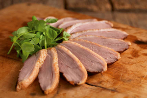 Hot Smoked Duck Breast