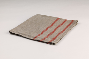 Red Striped Linen Napkin