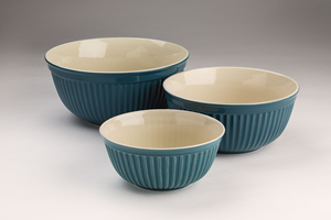 Set of Three Stoneware Mixing Bowls