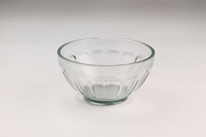 Glass Bowl with Wide Grooves
