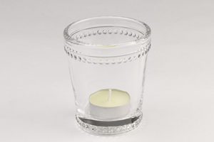 Bead Edge Candle Holder