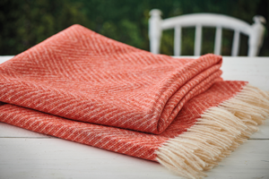 Orange Throw / Picnic Blanket